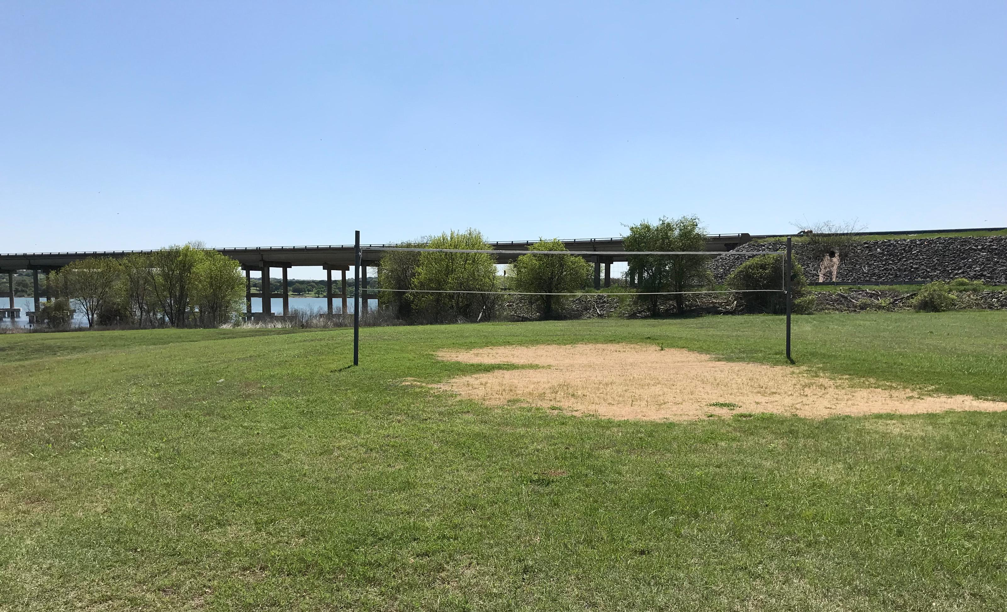 Sand volleyball court located in Group Shelter area