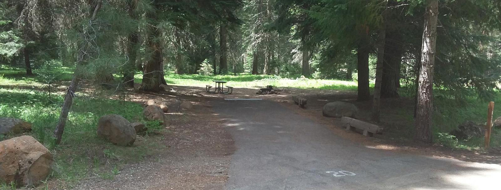 Campsite B20- Hyatt LakeCampsite 20, Loop B Hyatt Lake