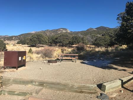 Site #17, Pinon Flats Campground