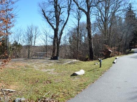 Balsam Mountain Campground  Site 6 Parking