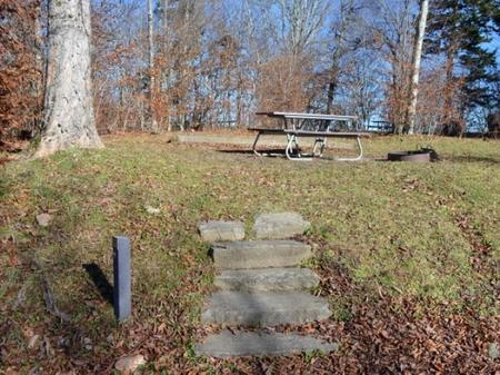 Balsam Mountain Campground Stairs to Site 12