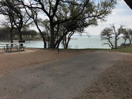 View of Waco Lake from site