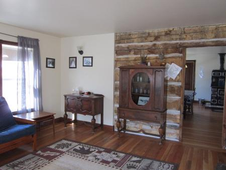 Period furniture inside cabin