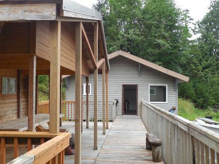 Deep Bay Cabin walkway