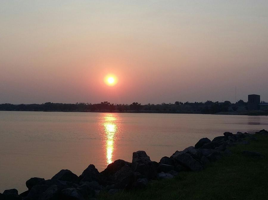 Lakeside Drive at sunset