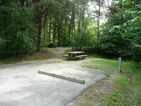 Stony Fork CampgroundNext to field, gravel path to bath house #2.