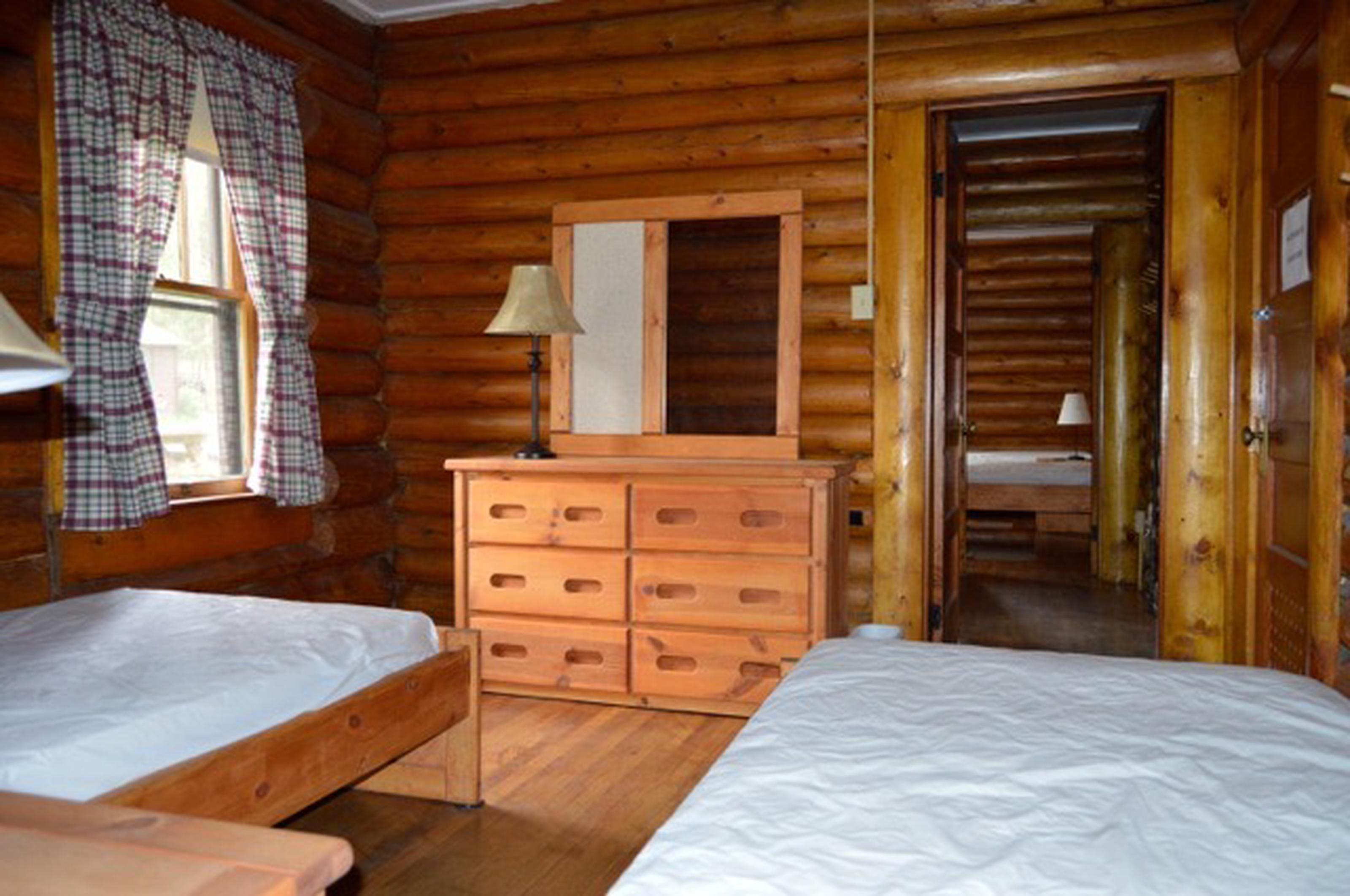 Bedroom at Stub Creek cabin