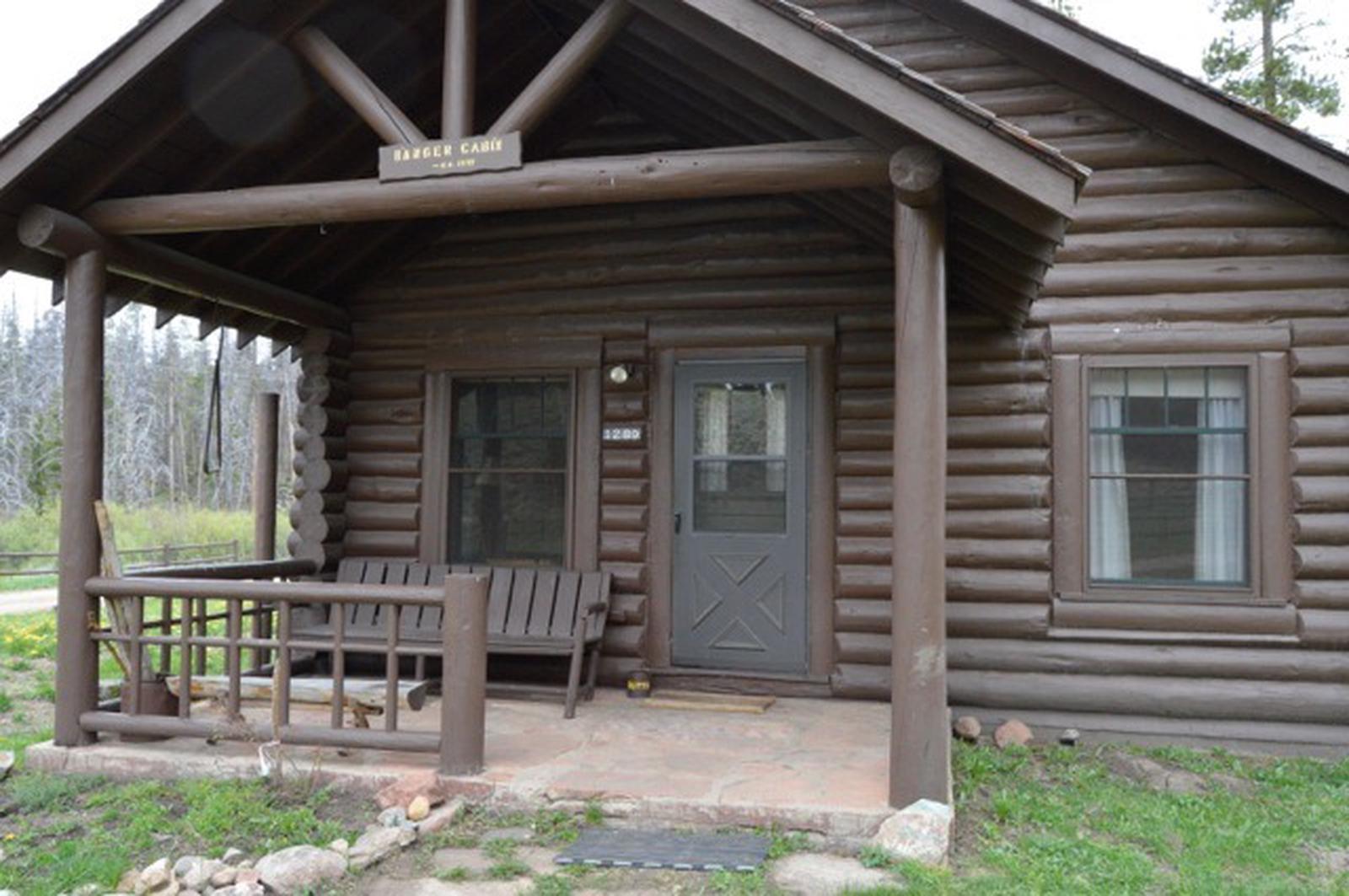 Stub Creek cabin porch