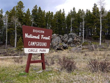 Circle Park Campground Sign