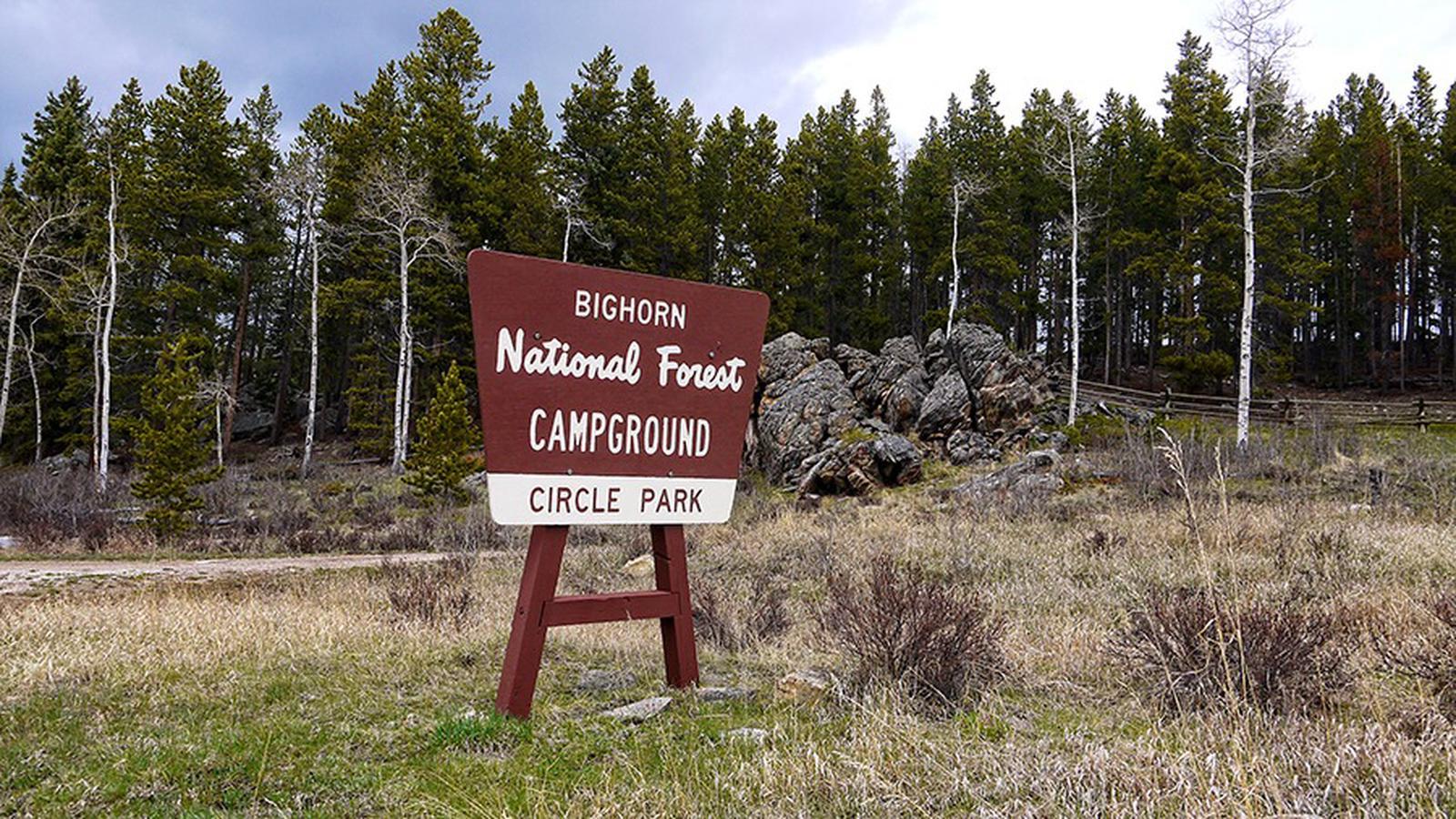 Circle Park Campground SignCircle Park Campground