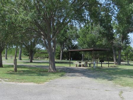 View of campsite 58