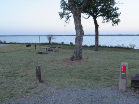 View of campsite 62