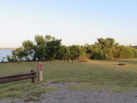 View of campsite 64