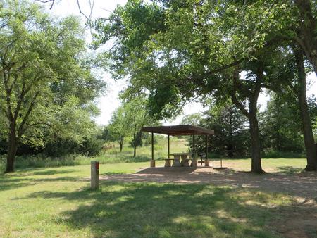 View of campsite 68