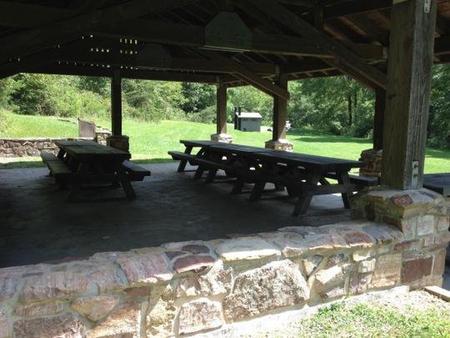 Raven Cliff Picnic ShelterPicnic tables