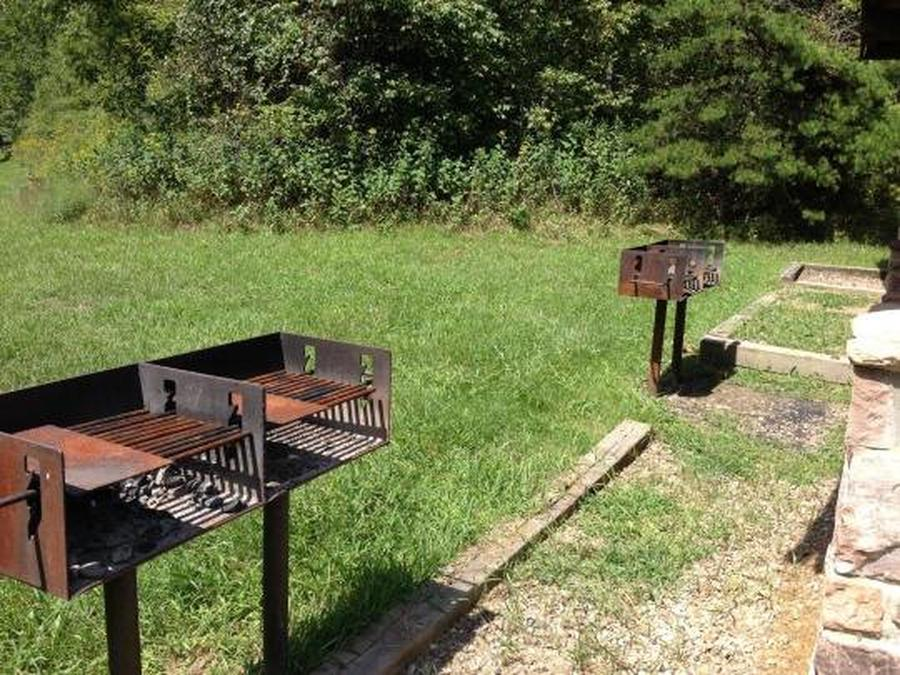 Raven Cliff Picnic ShelterGrills