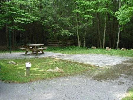 Raccoon Branch CampgroundShady site near creek