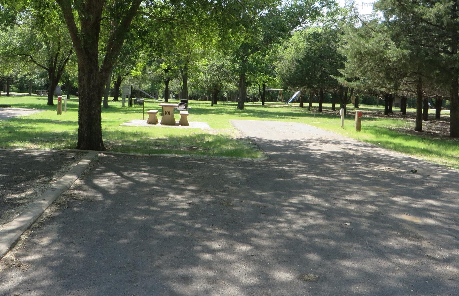 View of campsite 101