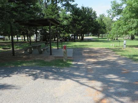 View of campsite 105