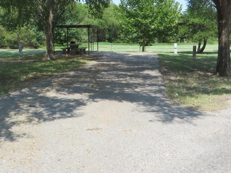 View of campsite 107