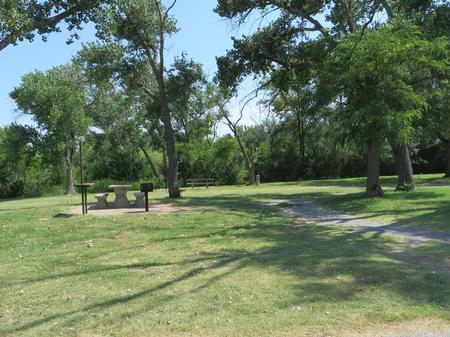 View of campsite 109