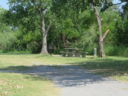 View of campsite 110
