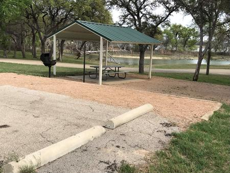 Site parking and picnic area