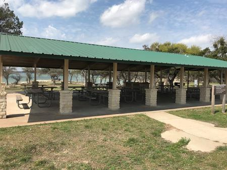 Group Shelter pavilion and picnic area