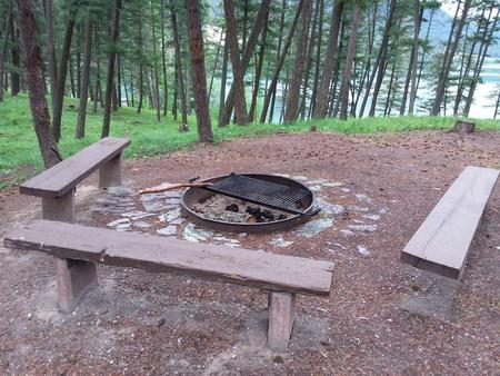 N. Dickey Lake Site 10-fire pit