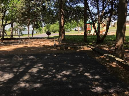 Site is located next to playground