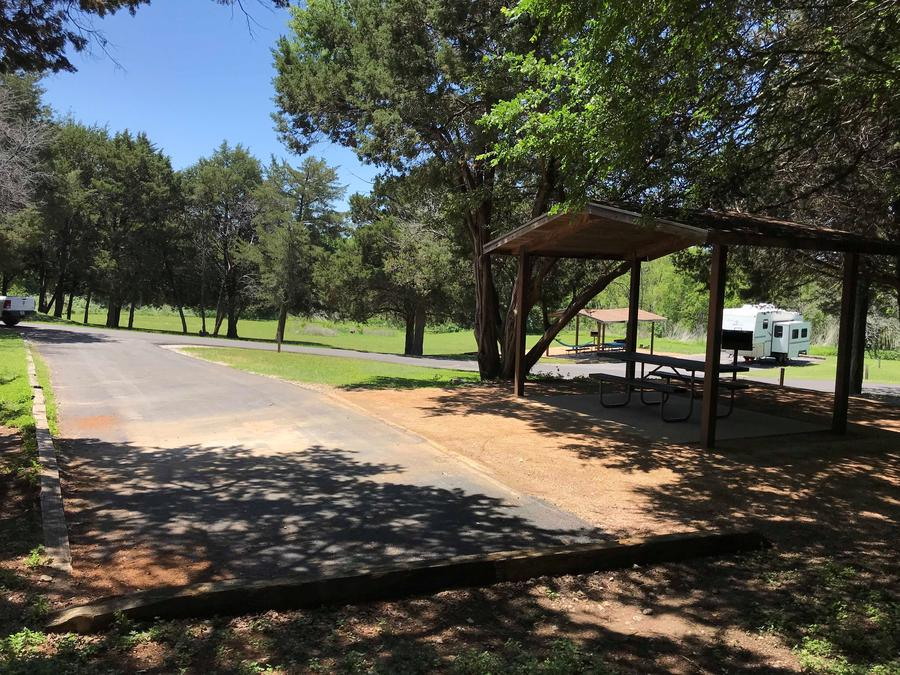Site driveway and parking area