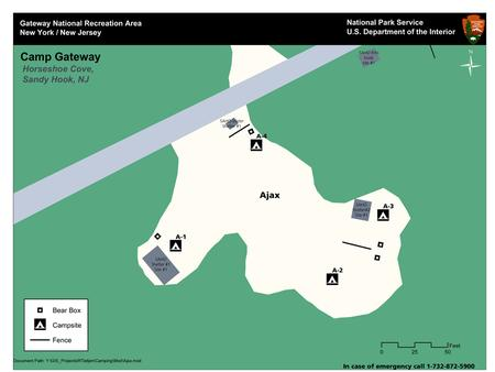 Overhead map of the campsites in the Ajax loop
