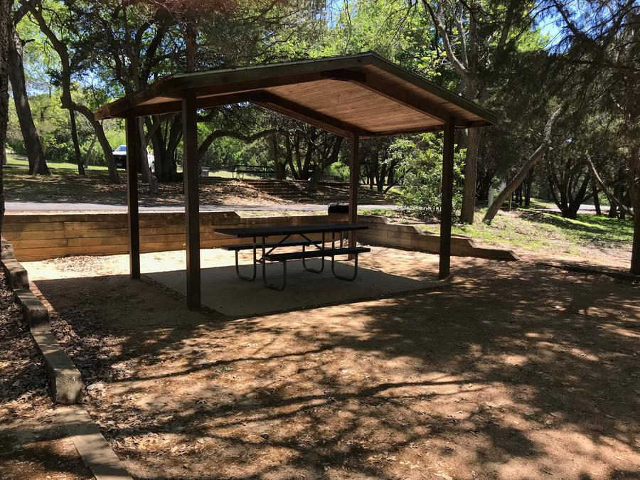 Covered picnic area at site