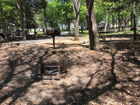 Site fire ring and picnic area