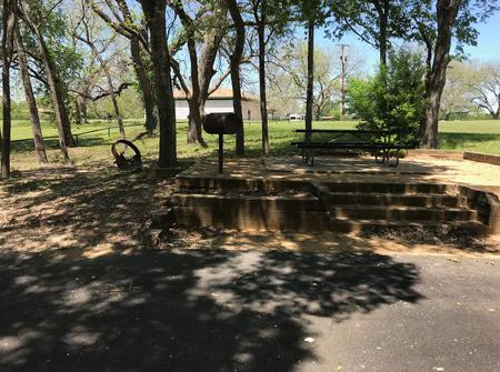 Picnic table, grill, and fire ring