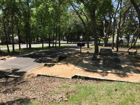 Site driveway and picnic area