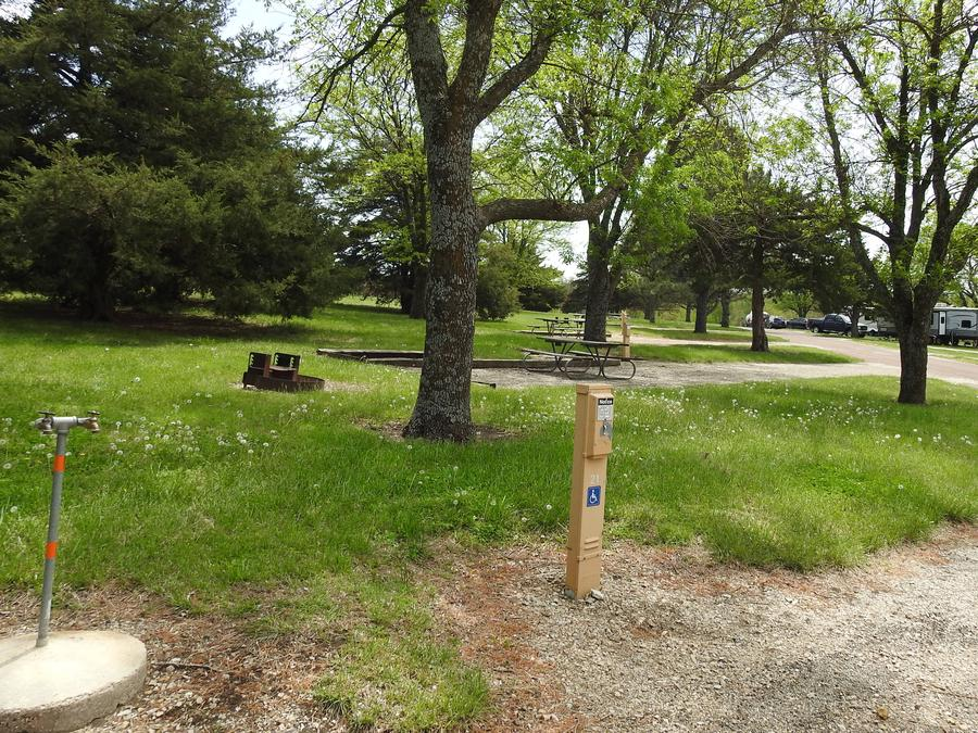 Site 21 in Arrow Rock Campground