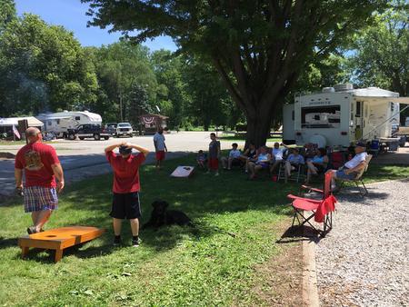 Baggo game at campsite!