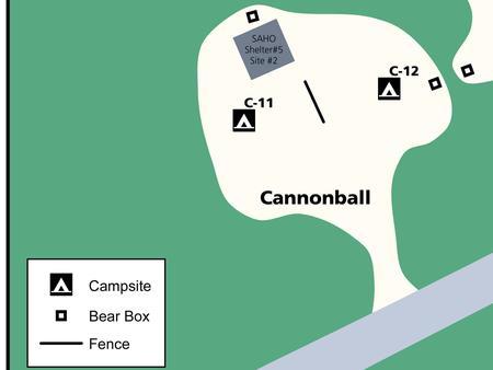 Cannonball 'C' loop mapAerial view of 'C' Loop