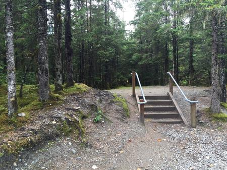 Stairs to Tent Site