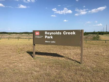 Reynolds Creek Park Main Entrance Sign.