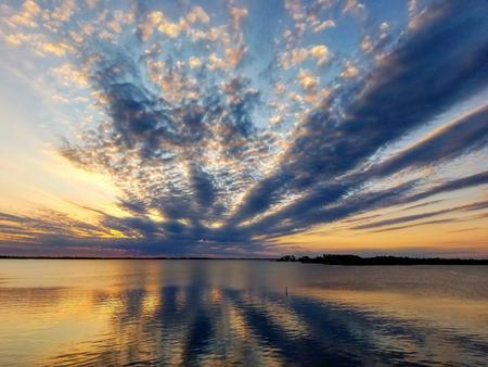 Marion Reservoir Dam Summer sunset overlooking Marion Cove Beach