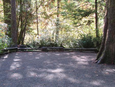 Large tent camping area, close to river trail