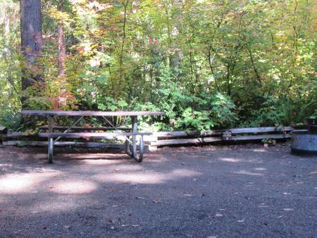 Camp area with picnic table, fire ring, close proximity to site #31