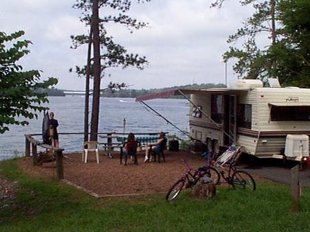 Campsite view.McKinney Campground