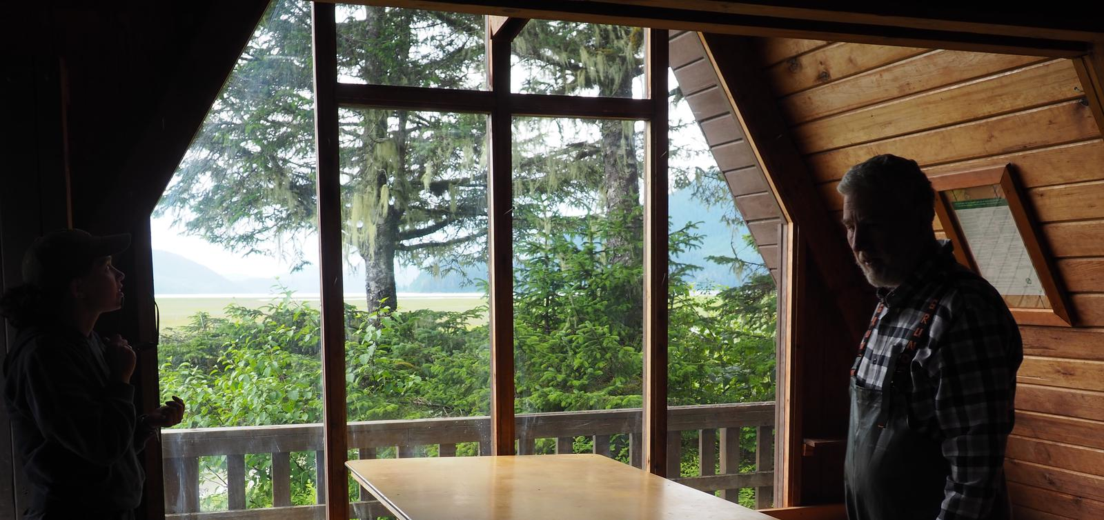 VIEW FROM LITTLE DRY ISLAND CABIN WINDOW