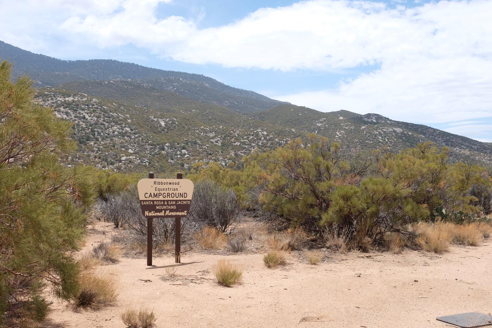 Ribbonwood Equestrian Campground Entrance