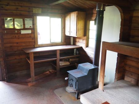 MARTEN LAKE CABIN INTERIOR