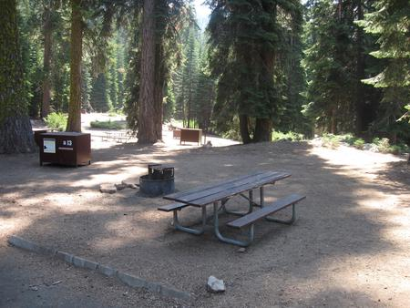 Campsite 13, Partial Shade, Near Creek and Meadow