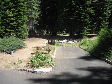 Campsite 25 Sunny, Near Restrooms